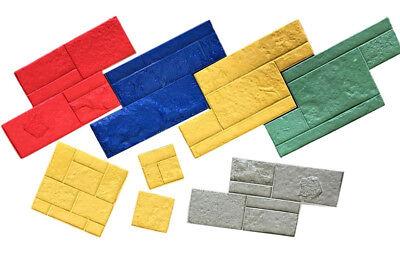 Cut Stone Tru Tex Vertical Concrete Stamp Set By Walttools