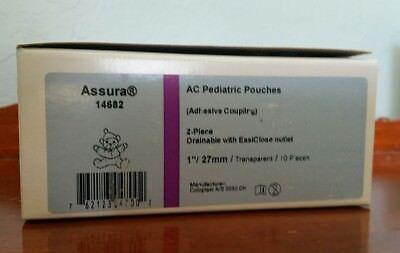 Coloplast 14682 10pc Assura AC Pediatric Pouches Drainable EasiClose Transparent Assura Easiclose Drainable Pouch