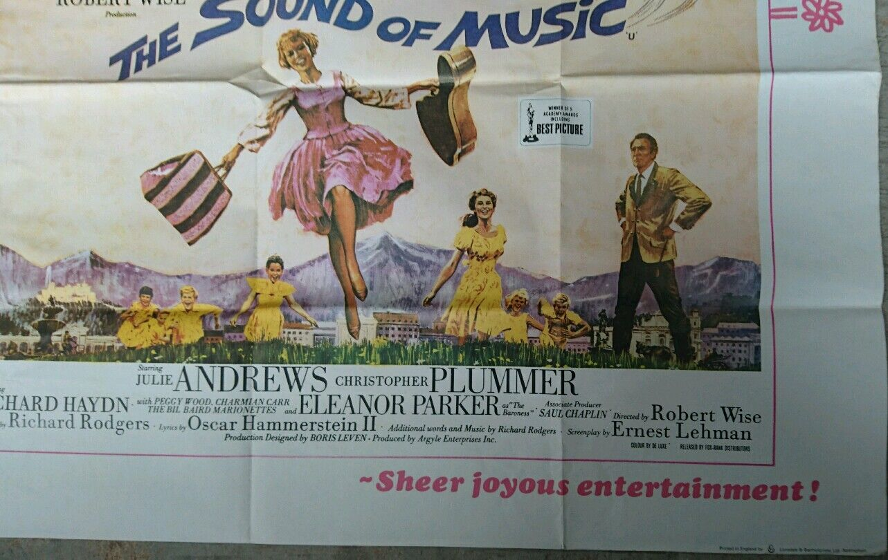 The Sound of Music 1975R Original UK Quad Cinema Poster ...