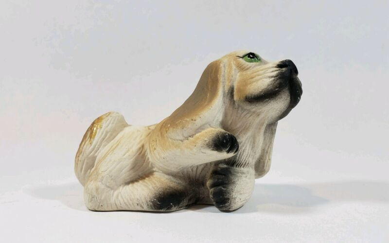 Small Dog Figurine with Green Eyes