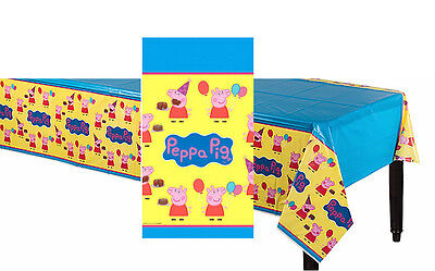 Peppa Birthday Party (Peppa Pig Plastic Table Cover Birthday Party Decoration Supplies Tablecloth)