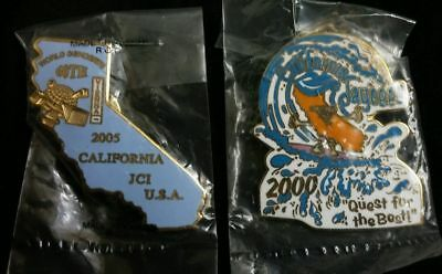 2 Jaycees California Pin 2000 Quest the Best Surfing 2005 Vienna World Concerts