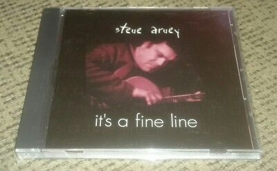 STEVE ARUEY cd IT'S A FINE LINE independent blues folk rock music album 2000 Fine Line Music