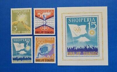 Albania Stamps, Scott 730-734 Complete Set MNH