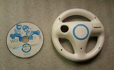 Mario Kart Nintendo Wii Game With Wheel Ready to Play!