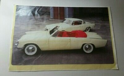 "RARE VINTAGE 1953 Studebaker CONVERTIBLE POSTER-11X17""-"
