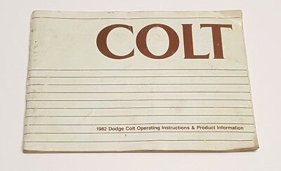 1982 DODGE COLT OWNERS MANUAL USER GUIDE 1.6L 2-4 D HATCHBACK DELUXE CUSTOM 1.4L