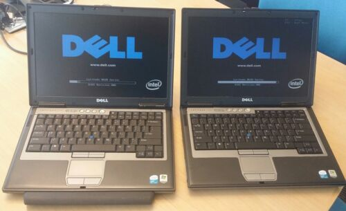 Lot of 2 Dell Latitude D620  Core 2 Duo  1.83Ghz 2GB RAM , 80GB HDD WIFI