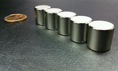 5 Neodymium N52 Cylinder Magnets Super Strong Rare Earth Disc 12 X 12