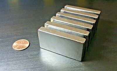 Neodymium N52 Block Magnet Super Strong Rare Earth Neo 2 X 1 Pull Force 35 Lbs