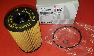 Bmw Genuine Oil Filter - Bmw Oil Filter Kit 550i,650i,750i,X5,X6-8 CYL. Engine 11427583220 GENUINE