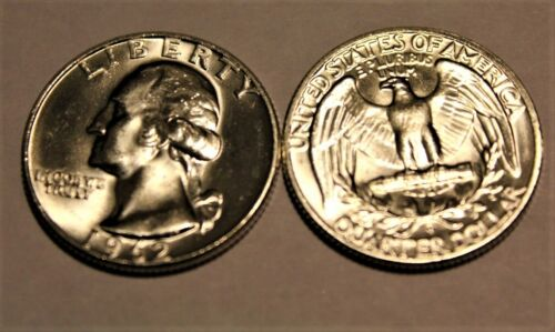 1962 D Washington Quarter  BU Uncirculated  90% Silver from Original Bank Roll