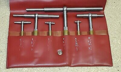 Starrett No. 579 Telescoping Gages - Set Of 6 - 516 To 6