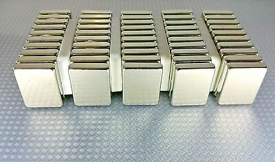10 Huge Neodymium Block Magnets. Super Strong Rare Earth N52 Grade 1 34