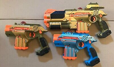 Lot of 3 Nerf Tiger Electronics Lazer Tag Phoenix LTX Laser Guns Tested Working