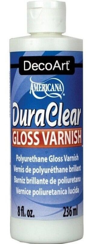 DecoArt DuraClear Poly Gloss Clear Varnish  Finish 8 oz