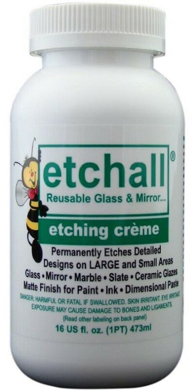 Etchall  Glass and Mirror Etching Creme 16 oz REUSABLE