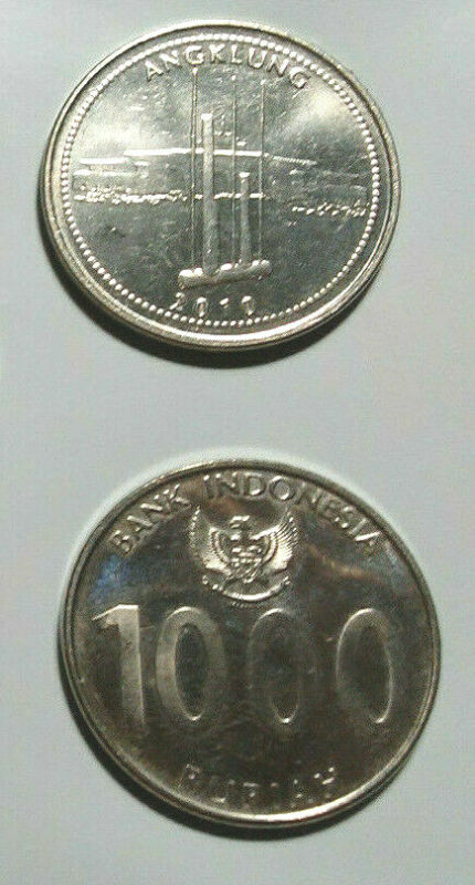 INDONESIA 6-PIECE UNCIRCULATED COIN SET, 25 TO 1000 RUPIAH