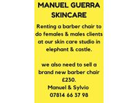 renting hairdresser chair to do female and male clients