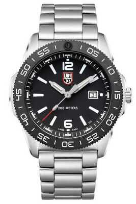 NEW Luminox XS.3122 Pacific Diver Black Dial Swiss Quartz Stainless Steel Watch