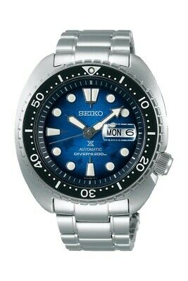 New Seiko Prospex King Turtle Blue Manta Ray Divers 200M Men's Watch SRPE39