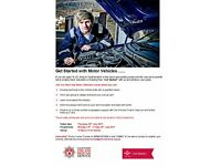 """Get Started with Motor Vehicle's"" SOUTHAMPTON 24th - 28th July"