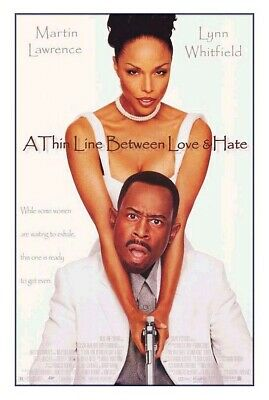 A THIN LINE BETWEEN LOVE AND & HATE MOVIE POSTER 1 Sided ORIGINAL 27x41 MARTIN