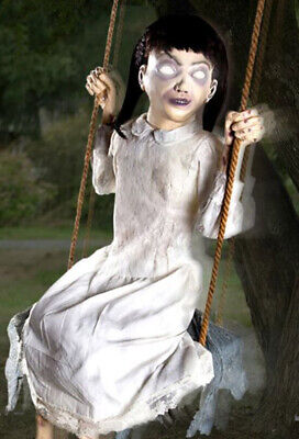 Spirit Zombie Swing Girl Animated Decoration HALLOWEEN PROP NEW IN BOX RARE