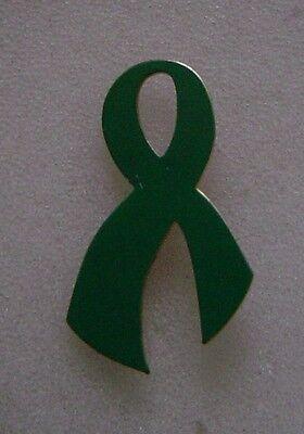 Mental Health Awareness green ribbon pin, made in USA