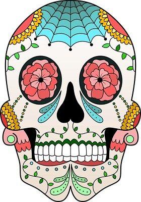 r Sticker FlowerTotenkopf Schädel Tag der Toten ca. 11x8 cm (Schädel-tag Der Toten)