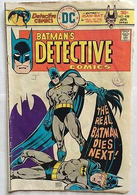 Batman - The Real Batman Dies Next DC Comics #458  UK Edition