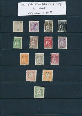 OWN PART OF CABO VERDE POSTAL STAMP HISTORY. 14 ISSUES CAT VALUE $4.90