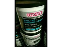 Wall tile adhesive & Grout XL SIZE £10 each! UNOPENED