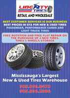 MISSISSAUGA LARGEST NEW&USED ALLSEASON N WINTER TIRES WAREHOUSE