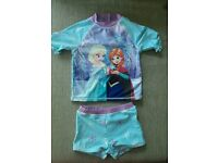 Girl's Frozen two piece swim suit 18-24 months