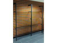 Shop Fitting 8 Glass Shelving modular display system home office