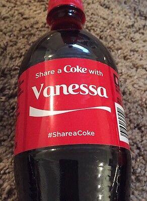 Share a COKE with Vanessa 20 fl oz Collectible Bottle RARE Coca-Cola HTF Name