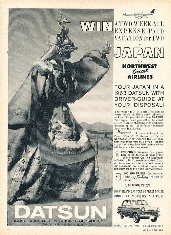 1963 Datsun Northwest Orient Classic Advertisement P80