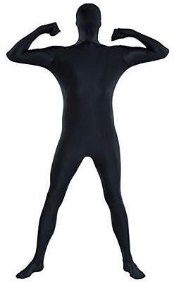 Amscan Party Skin Suit Halloween Costume Black - Adult X Large