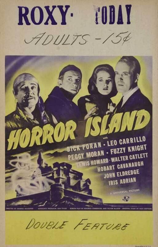 HORROR ISLAND Movie POSTER 27x40