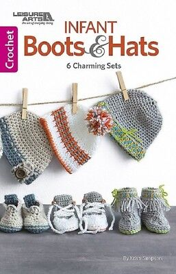 Crochet Pattern Book INFANT BOOTS & HATS ~ Baby Booties & - Baby Crochet Book