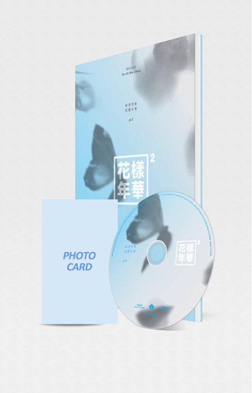 BTS-[IN THE MOOD FOR LOVE] PT.2 4th Mini Album Blue Ver CD+Photobook+Photocard