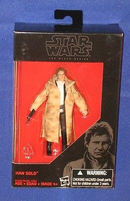 """Star Wars Endor Han Solo 4"""" Action Figure Vintage Black Series 2015 Hasbro MIB"""