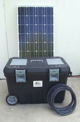 2500/5000 Watt Solar Generator 200AH Battery 2 100w Solar Panels Portable Power