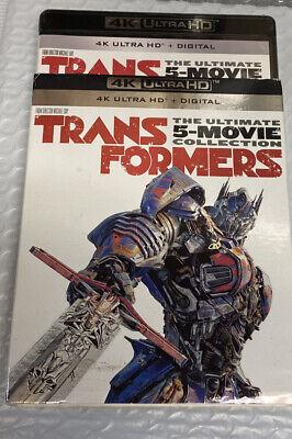Transformers 5-Movie Collection (4k UHD Blu-ray, Digital) NEW w/slipcover