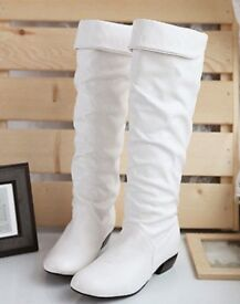 ***REDUCED*** Women's White Boots