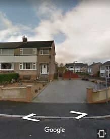 3 Bedroom Semi detached House, Nessfield BD22, very spacious, lovely location +garage. Must be seen!