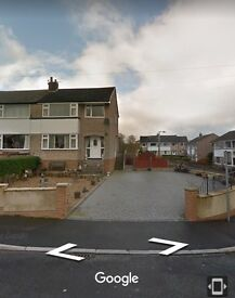 Large 3 bed semi detached house to let, keighley bd22 area. Must see!
