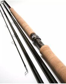 DIAWA NEW ERA 15' Salmon rod and reel + extras