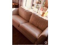 Cream leather sofa £100